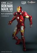 PLAY IMAGINATIVESUPER ALLOY1/6 SCALE IRON MAN MK VII DIE CAST FIGURE .
