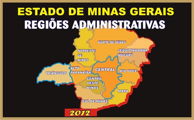 Mapa Administrativo Minas Gerais