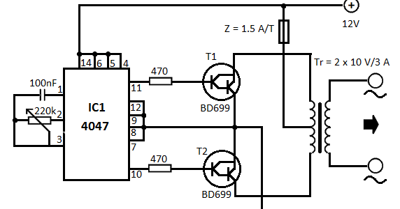 electrical and electronics engineering  12v to 220v
