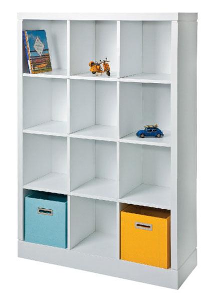 Estantes Para Quarto De Brinquedos ~ Com 12 nichos, a estante da Hits guarda livros e brinquedos