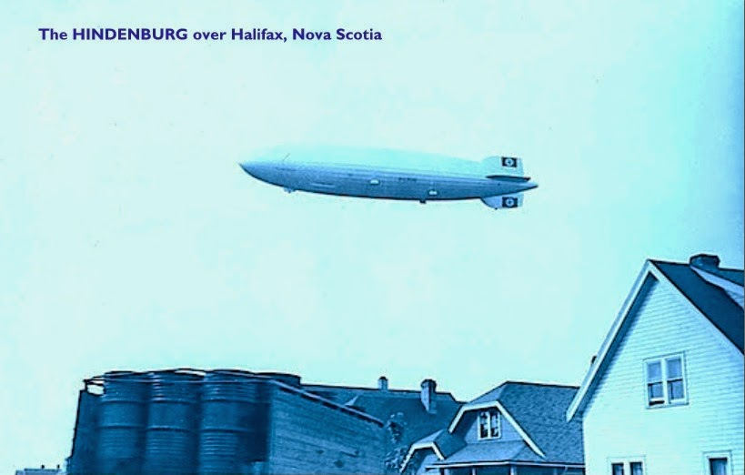 Hindenburg over Halifax, N.S.