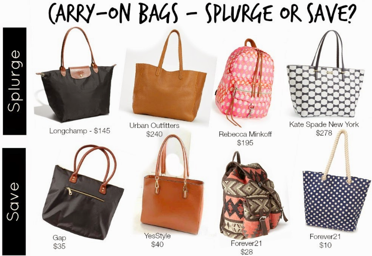It D Be Ropriate To Share Some Cute Carry On Bags For Flying I Chose Splurge And Save Give Your Wallet A Little Choice In