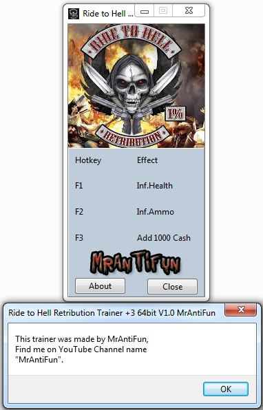Ride to Hell Retribution Trainer +3 32 bits & 64 bits MrAntiFun