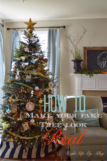 Right Up My Alley How To Make Your Fake Christmas Tree