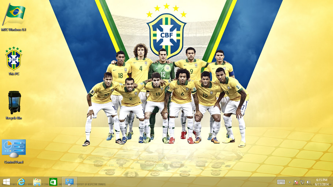 FIFA World Cup 2014 Theme for Windows: Team Brazil