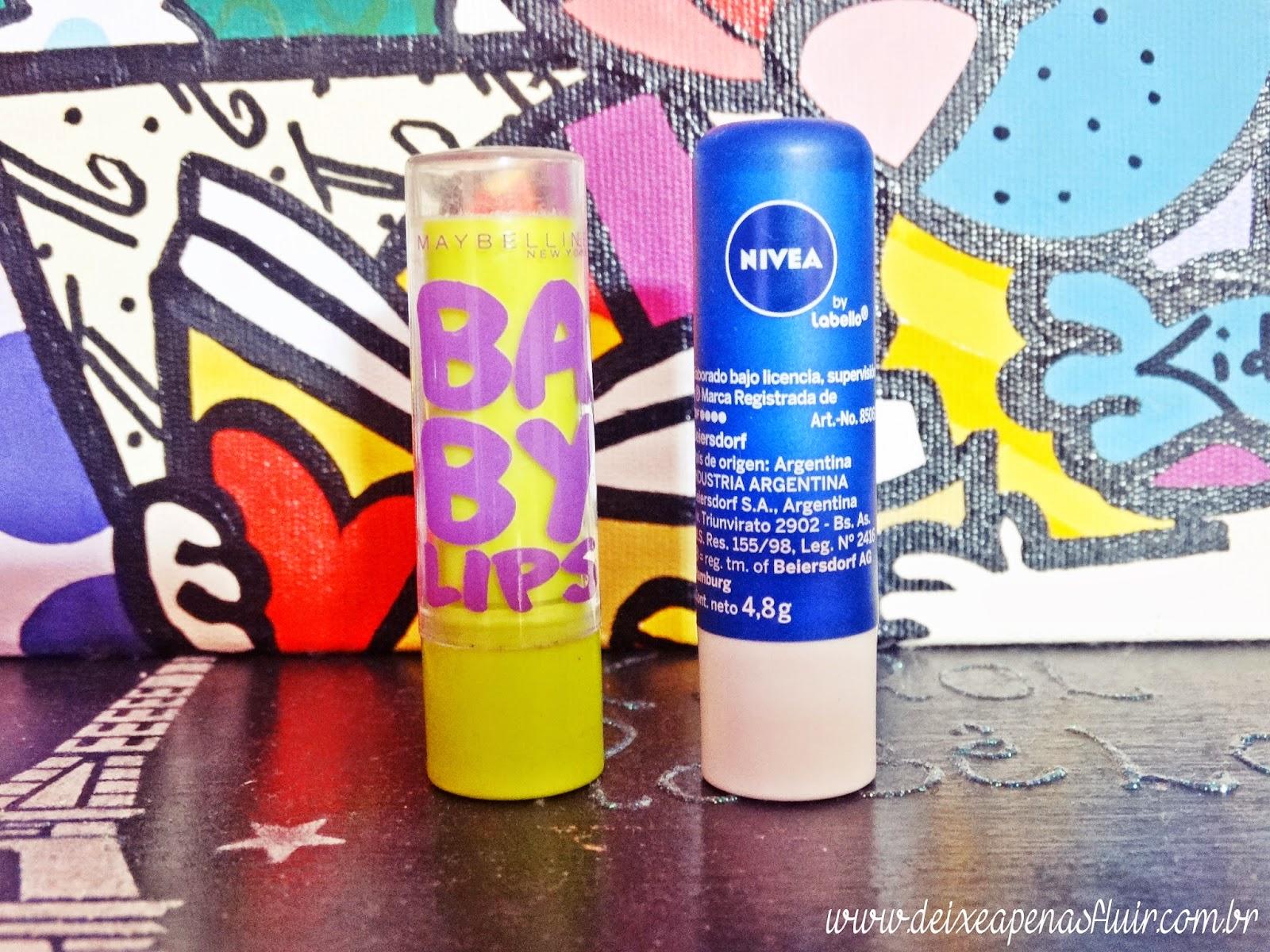 DSC02144 - Batalha dos Lip Balms: Nivea vs Maybelline
