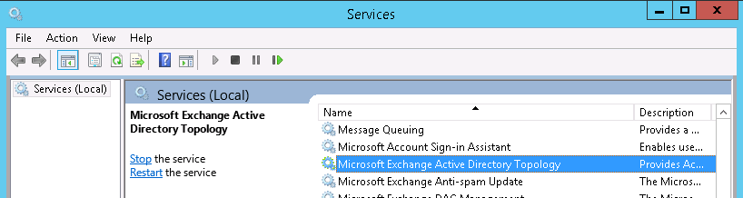 Microsoft Exchange Active Directory Topology Service wont ...
