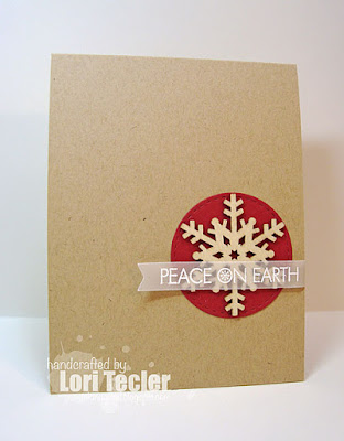 Peace on Earth card-designed by Lori Tecler/Inking Aloud-stamps from Lil' Inker Designs