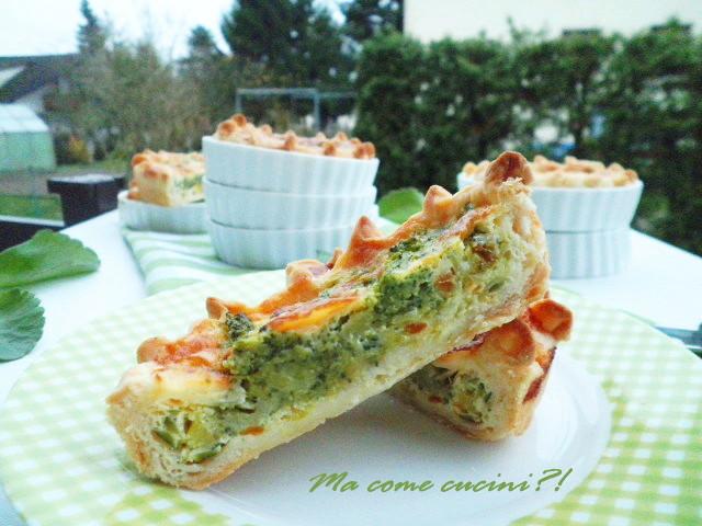 crostatine di sfoglia alle verdure
