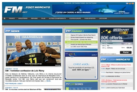 Foot Mercato ( France ) -  18 / 03 / 2012