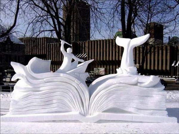 animal snow sculptures - photo #23