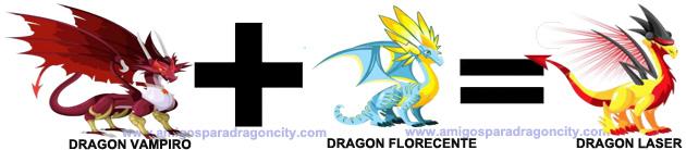como sacar el dragon laser en dragon city combinacion 2