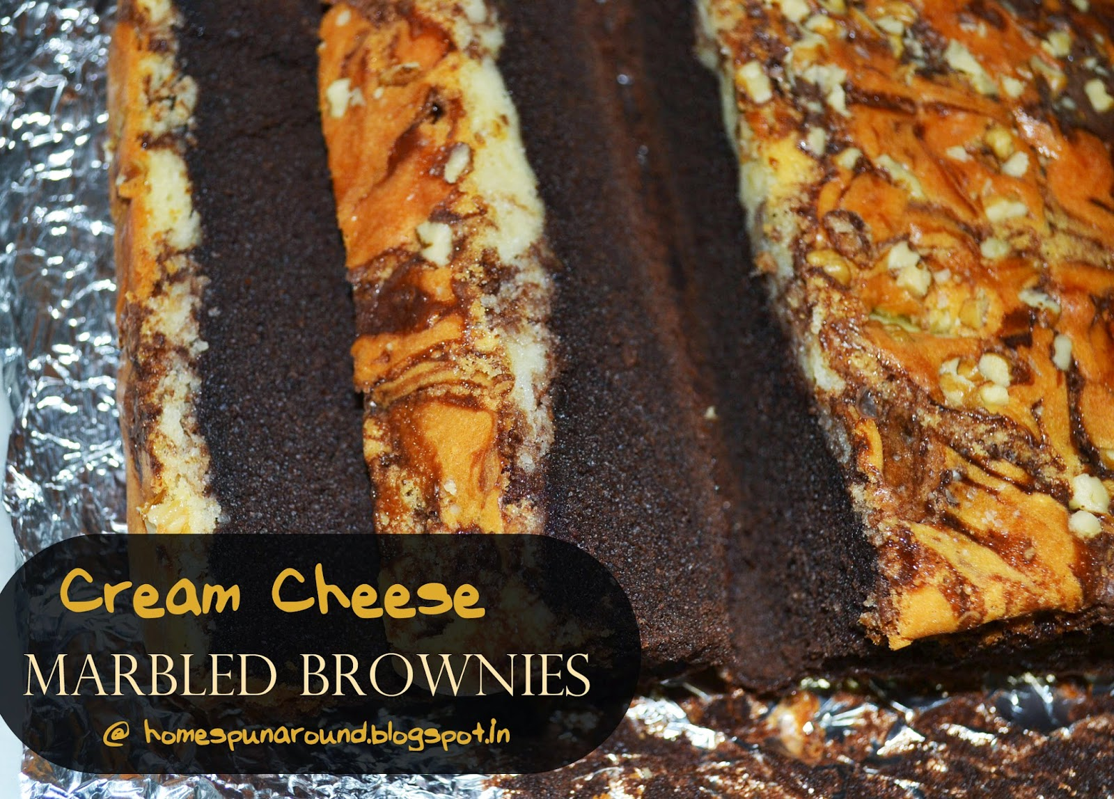 Home-Spun-Around: Tuesday Treat: Cream Cheese Marbled Brownies