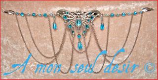 pince à cheveux papillon barrette bijou elfique féerique mariage Arwen Galadriel elfe fée butterfly wedding elven fairy hair slide