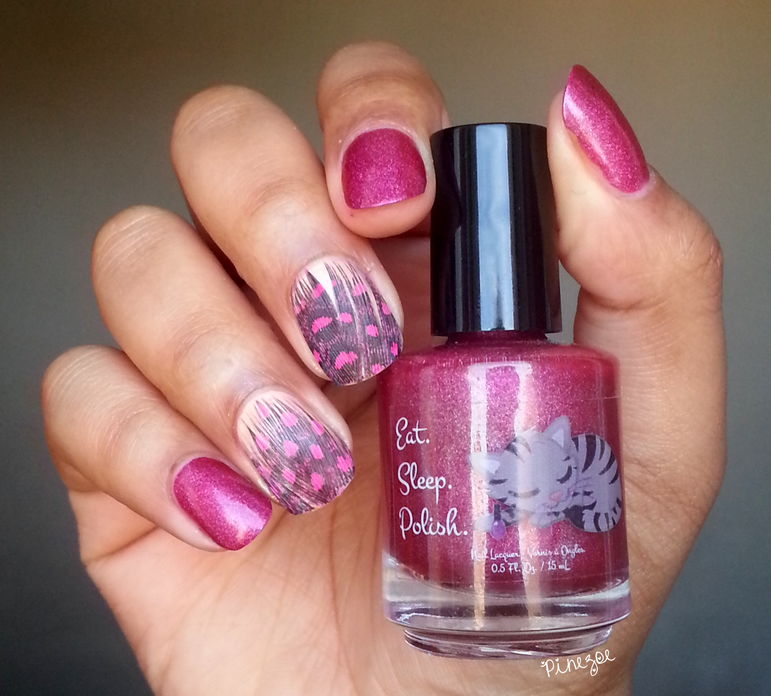 Eat Sleep Polish - Glitter berry & Ciaté Feather Manicure Kit