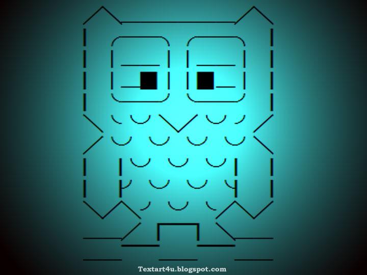 Cute Baby Owl Unicode Text Art For Whatsapp Facebook Twitter