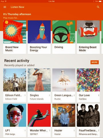 Google Play Music app comes to the iPad