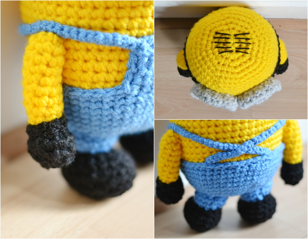crochet minion parts feet arms dungarees