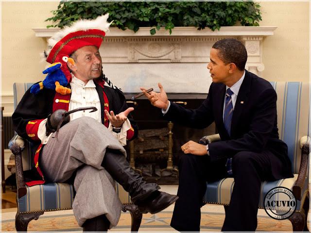 Funny image Traian Băsescu şi Barack Obama