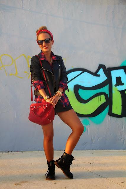 Street Style, glamour magazine, punk rock, bimba & lola, rayban