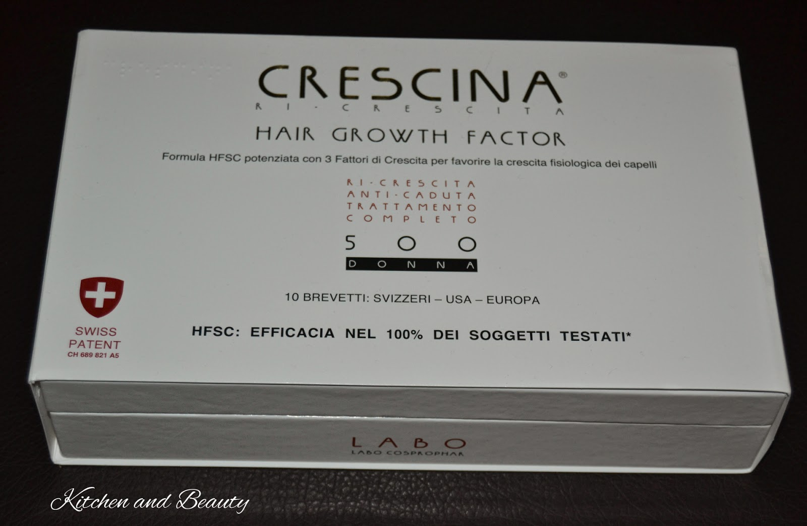review crescina hair growth factor 500 donna  labo suisse