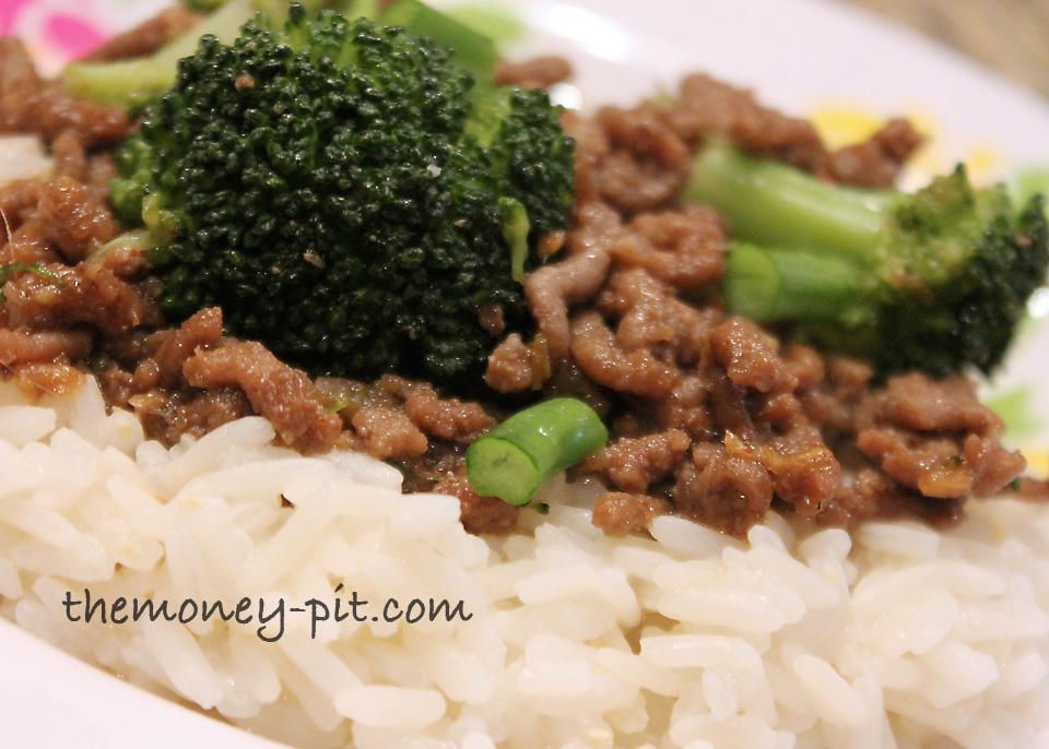 recipe: ginger ground beef [1]