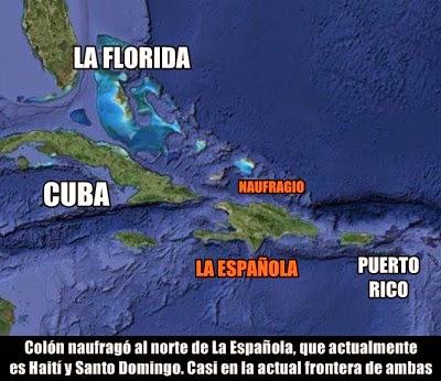 Colón naufragio islas
