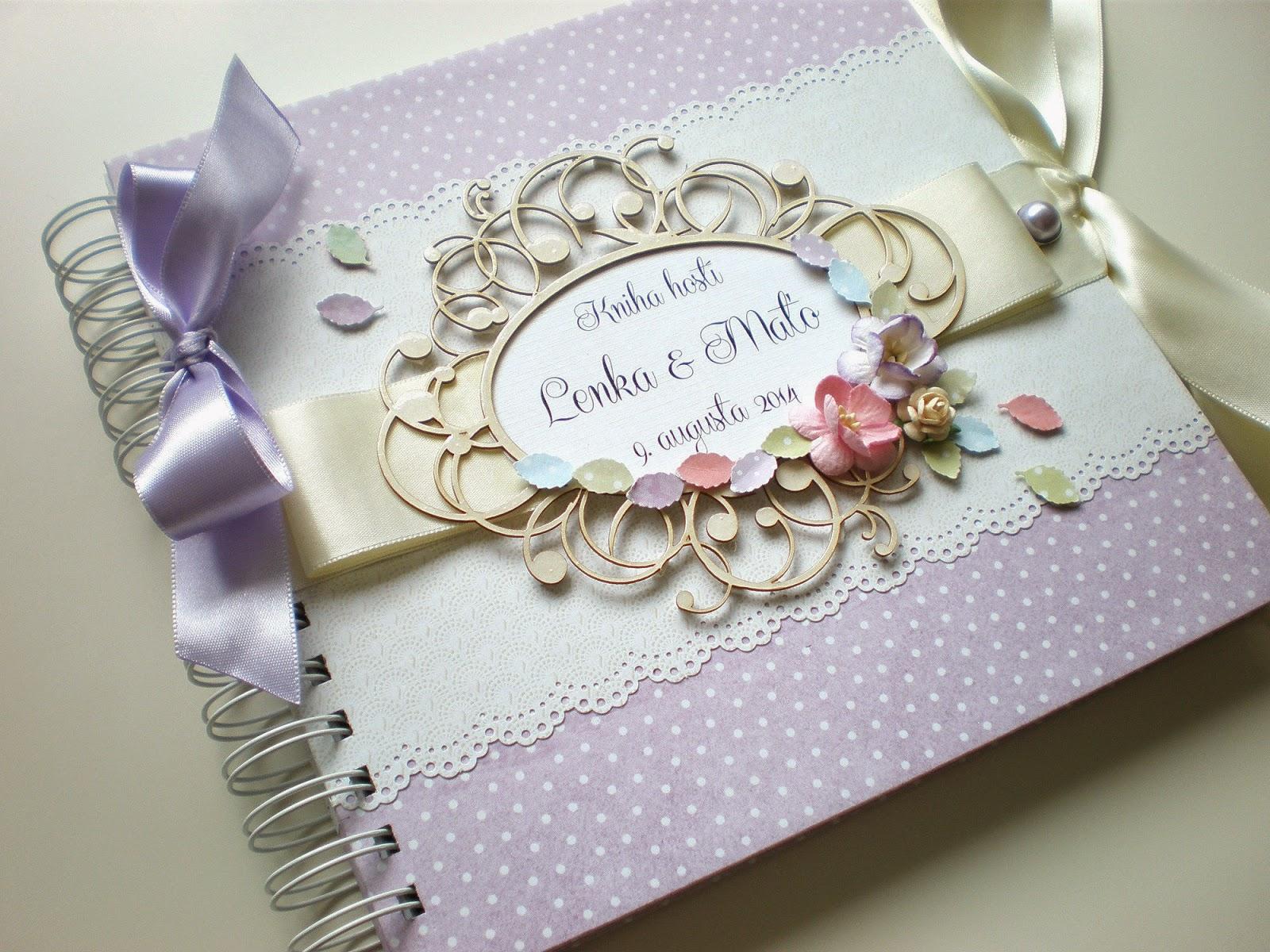 Kniha hostí fialková / Wedding guest book lila