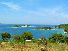 The Ksamil Archipelago in Albania