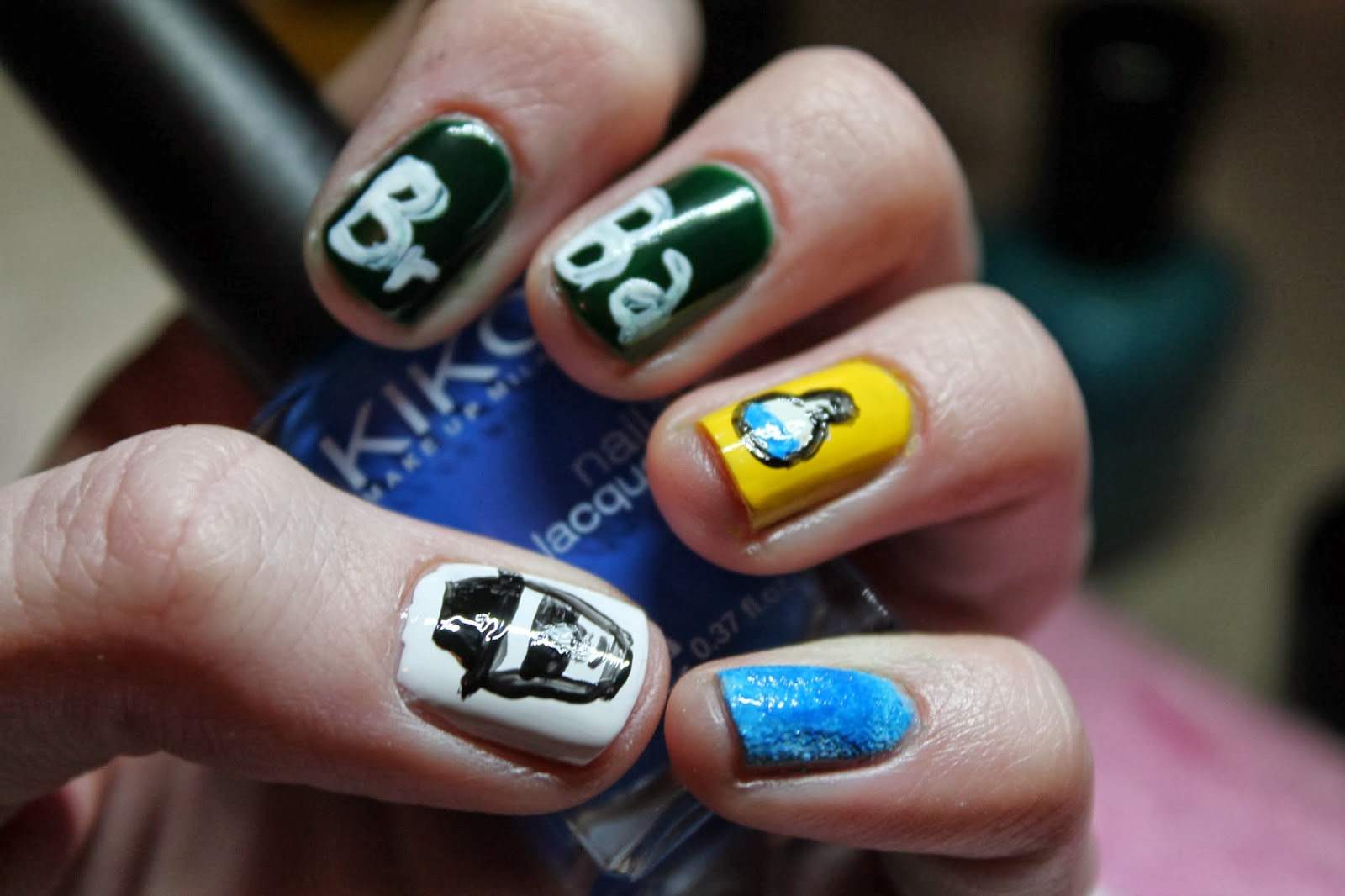 Nail Art Weekly Project - Week Two 2 Breaking Bad Nails