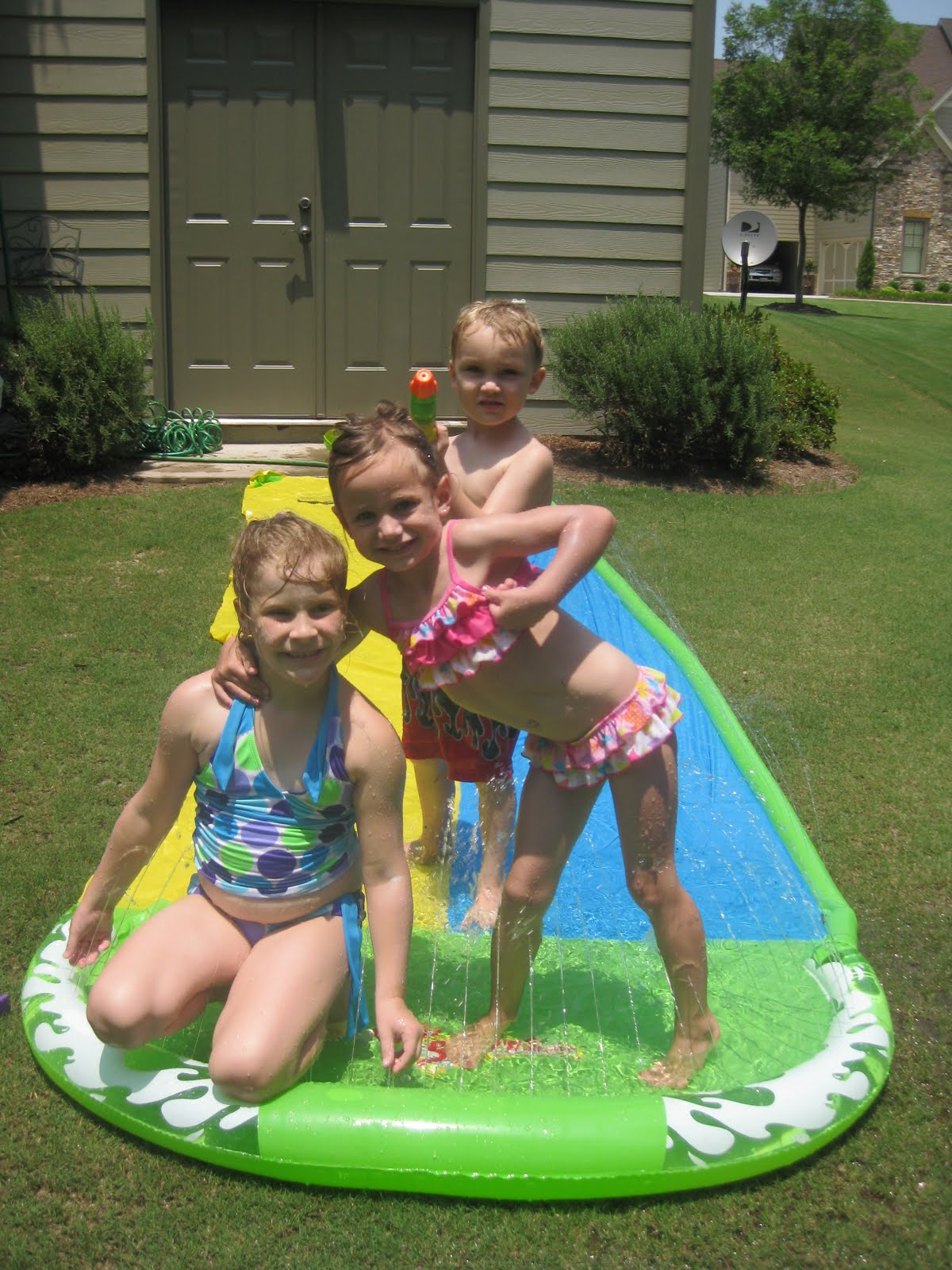 knight and day back yard water fun with brianna michael