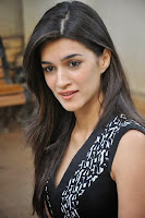 Kriti Sanon in Sper Short black gown long legs Spicy Beauty