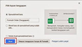 Tujuan Tanggapan Formulir Order di Google Docs