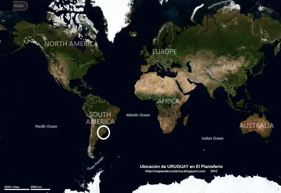Ubicacion de Malta en el Mundo Ubicación de Uruguay en el