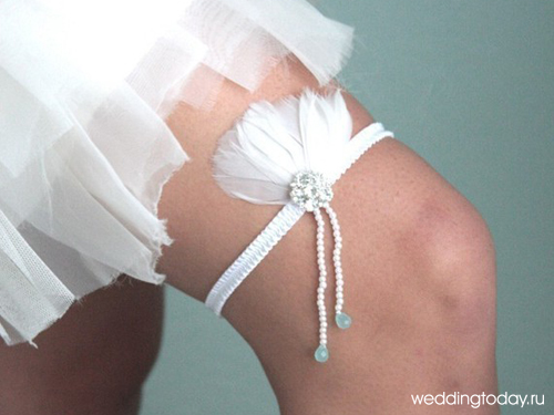 Подвязка невесте своими руками