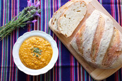 Pumpkin, Quinoa and Almond Soup