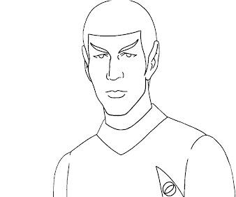 #11 Star Trek Coloring Page
