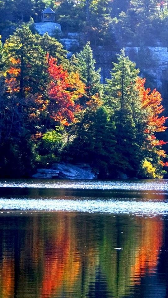 Lake Minnewaska Autumn  Galaxy Note HD Wallpaper