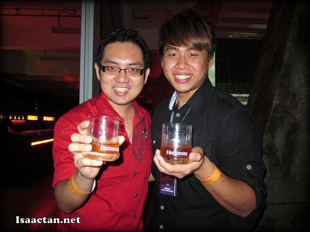 With buddy Benjamin promoting our drinks that night