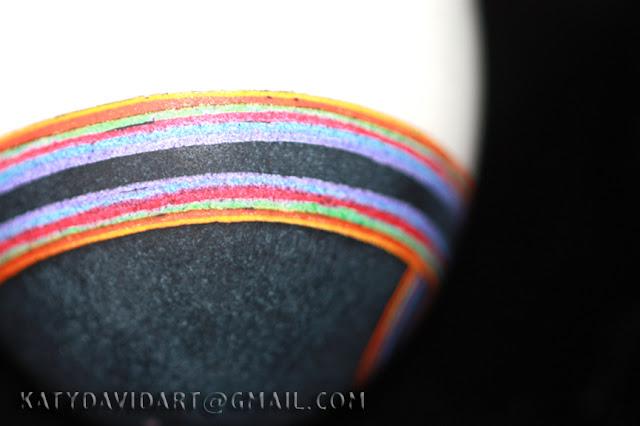 Goose Egg Batik 1980 Rainbow Seagull Design