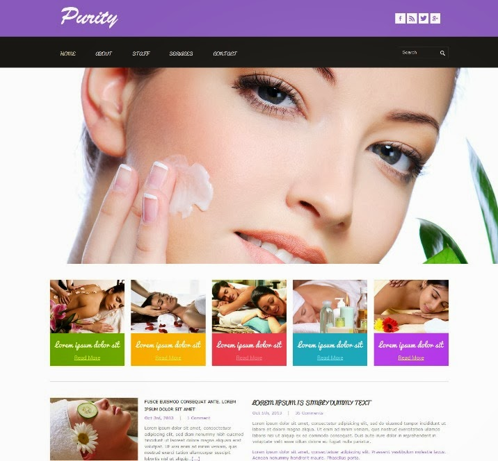 Purity Responsive Html5 Theme for Beauty and Spa