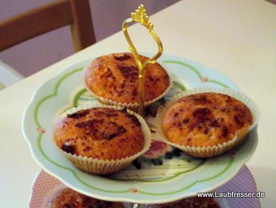 vegane Apfel-Zimt-Marzipan-Muffins