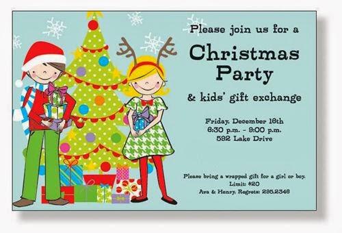 Best Christmas Invitation Wording For Kids