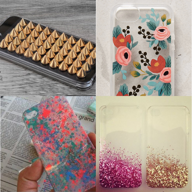 Milowcostblog ideas customizar carcasas transparentes - Decorar funda movil ...