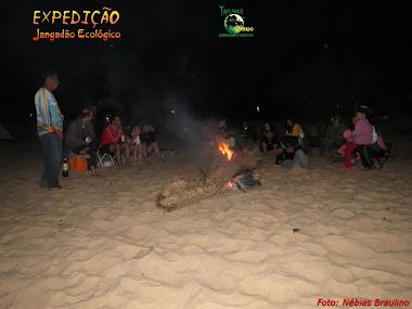 Fogueiro no Rio Araguaia