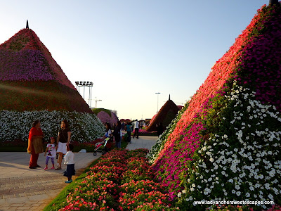 pyramids at Dubai Miracle Garden
