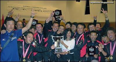 Pasukan Sofbol negara Jepun yang akan mewakili Asia ke Kejohanan Sofbol Dunia 2013
