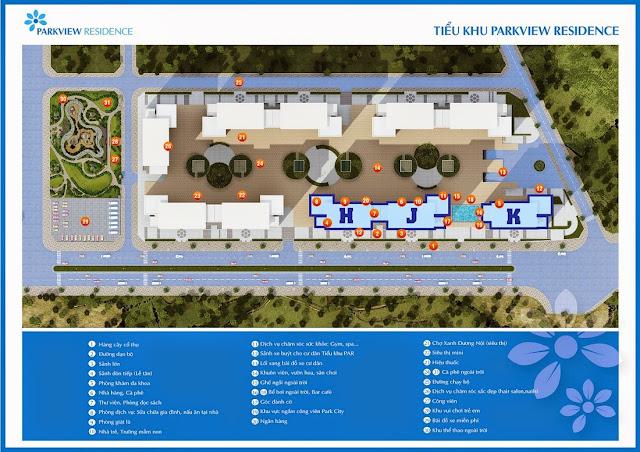 dịch vụ + tiện ích của Chung cư Park view dương nội