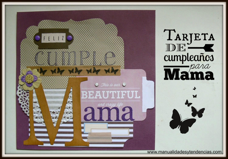 Tarjeta de cumpleaños para una madre