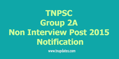 tnpsc group 2a notification 2015